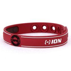 """Bracelet Silicone Bio éléments """"Noproblem"""" Rouge adapté à la pratique d'un sport"""