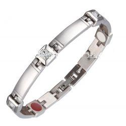 Très Joli Bracelet Magnétothérapie 4 aimants Féminin Design Dubaï Cristaux Diamant Swarovski Elements