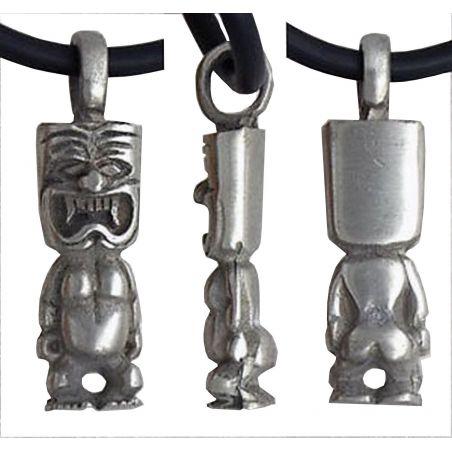 Pendentif Tiki Emblême Sports de Glisse Totem Thaïtien Maori