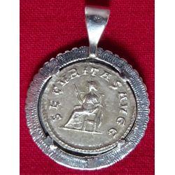 Pendentif en argent 925 Sesterce Gordien III