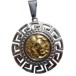 Pendentif Grec Apollon XXL avec Cordon Cuir