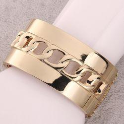 Bracelet Manchette avec Gourmette Centrale Fixe