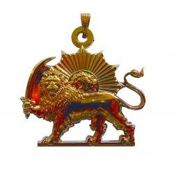 Pendentif du Lion Solaire Ton Or (Perse Impériale)