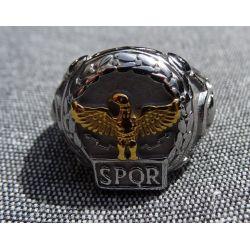 """Chevalière Romaine """"SPQR"""" Emblème de la République Romaine"""