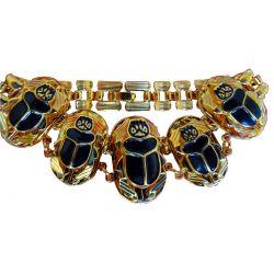 "Bracelet Egyptien ""5 Scarabées"""