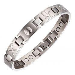 Bracelet Magnétique 4 aimants Homme Symbole Golf Sport.MH08