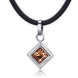 Pendentif Bijou Santé Losange avec cristal Swarovski Element