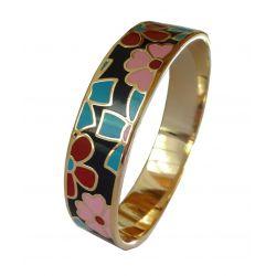 Bracelet Design et Trés Mode Emaillé Trés Coloré.Taille Medium. Super Qualité ME16