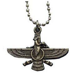 "Pendentif Zoroastre Oiseau Vareghna représentant la Xvarnah ""la gloire royale"""