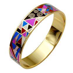 Bracelet Design et Trés Mode Emaillé Trés Coloré. Taille Medium. Super Qualité ME19