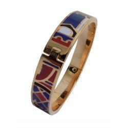 Bracelet Fin Haute Qualité émail cloisonné avec Charnière. VIP20