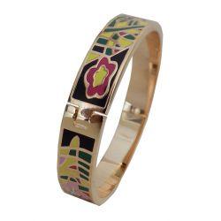 Bracelet Fin Haute Qualité émail cloisonné avec Charnière. VIP22