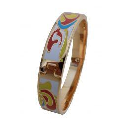 Bracelet Fin Haute Qualité émail cloisonné avec Charnière. VIP24