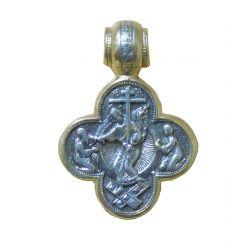 ☦ Médaille 4 Lobes Résurrection de Jésus Christ, Saint Jean Baptiste (ancienne collection)