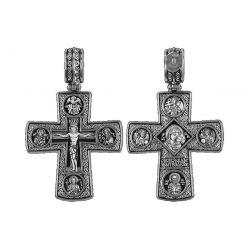 Croix Crucifix déïsous Apôtre Pierre Icône de la tendresse de la mère de Dieu. Archanges Michel et Gabriel. St. Nicolas. DM09