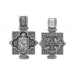 Religion Orthodoxe Reliquaire Seigneur Tout-Puissant. Icône de la Mère de Dieu Vsetsaritsa. REL04