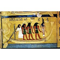 Pendentif Egyptien Scarabée avec Cobra et la Barque Solaire