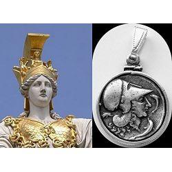 Pièce Pendentif Athena et Pégase plaquée Argent