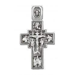Imposante Croix Russe Orthodoxe Dieu Tout Puissant en argent DM06